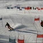 Compétition de ski à Courchevel